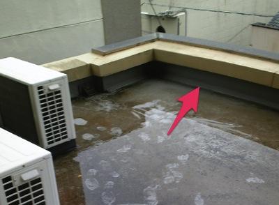 屋上排水口のつまり2